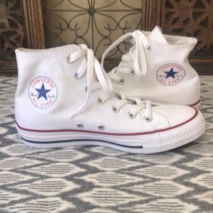 Brand New White Hightop Converse